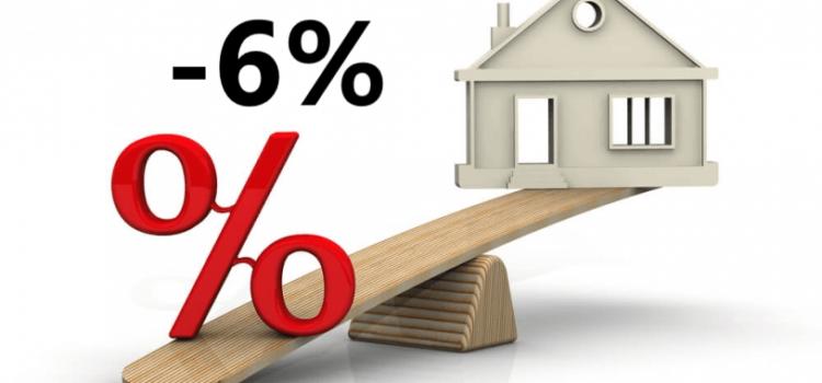 Субсидии по ипотеке, уменьшение процентной ставки до 6%